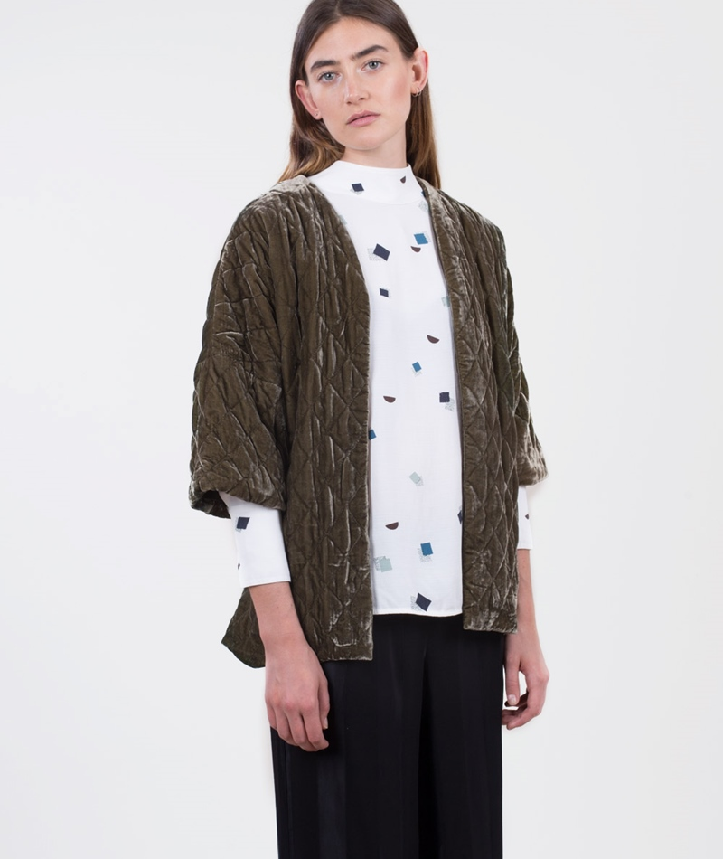 SECOND FEMALE Quinni Kimono Blazer green