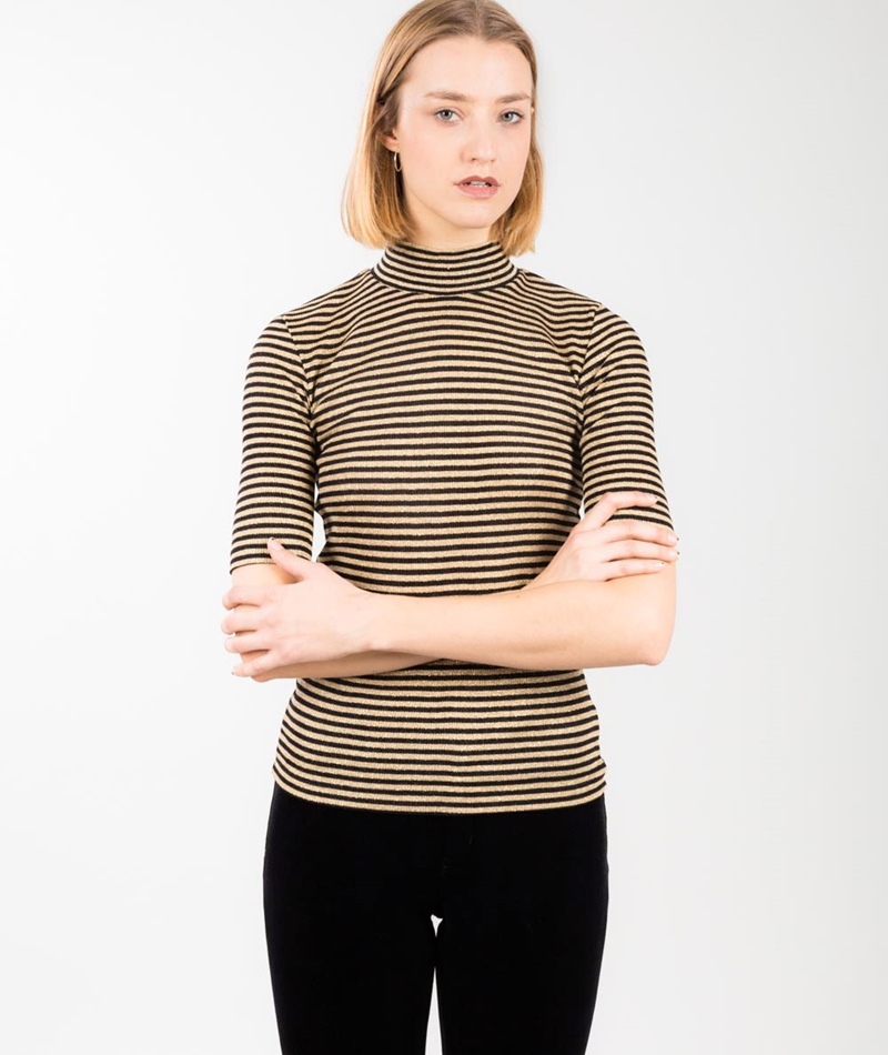 MADS NORGAARD Tuguina Top black/gold