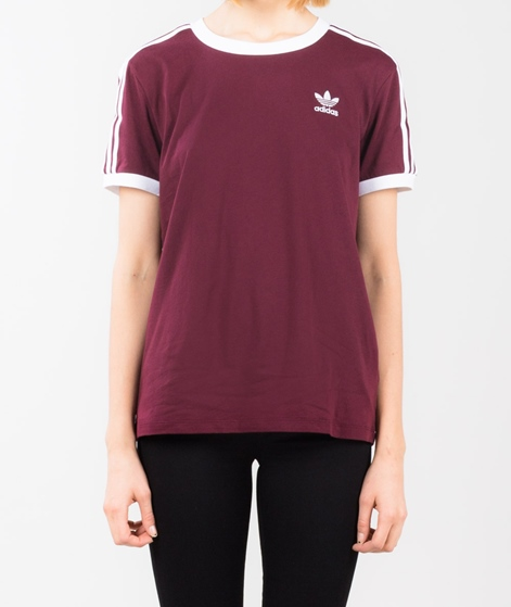 ADIDAS 3 Stripes T-Shirt maroon