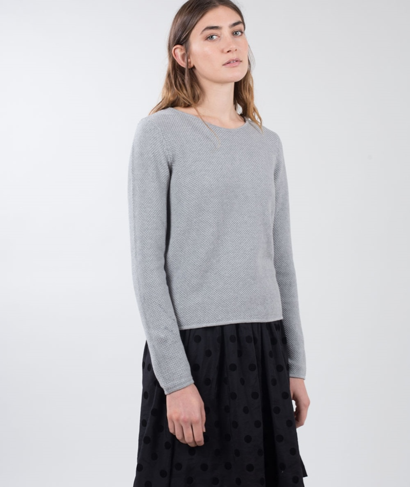 MINIMUM Hilde Knit Pullover light grey