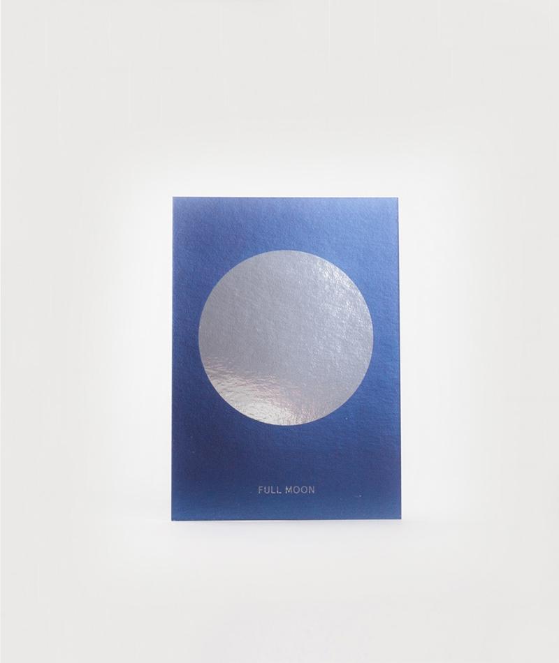 KAUF DICH GLÜCKLICH Postkarte Full Moon