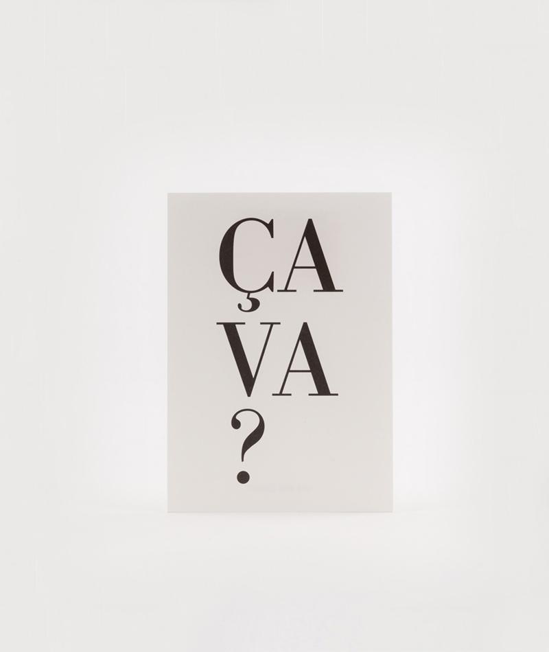 KAUF DICH GLÜCKLICH Postkarte Ca va?