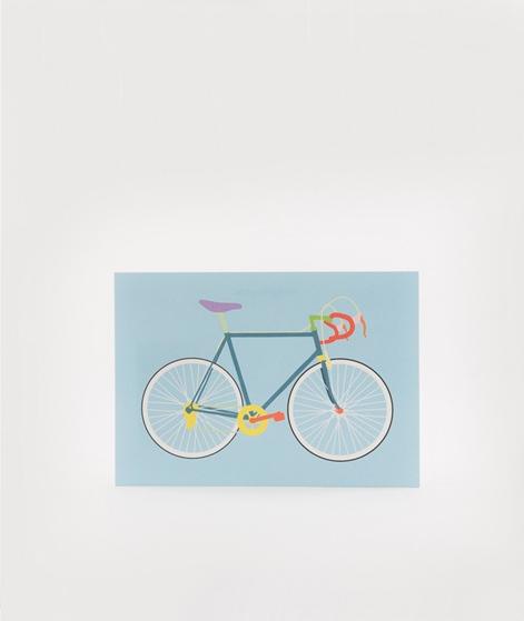 KAUF DICH GLÜCKLICH Postkarte Fahrrad