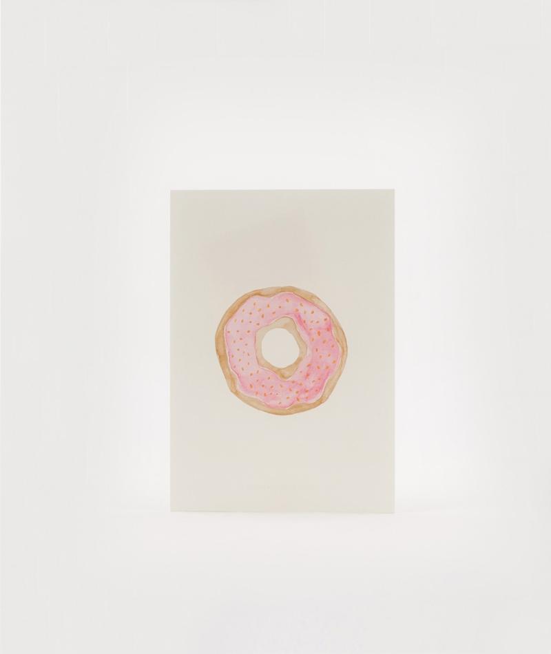 KAUF DICH GLÜCKLICH Postkarte Donut