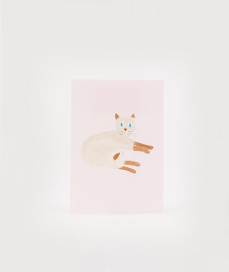 KAUF DICH GLÜCKLICH Postkarte Katze