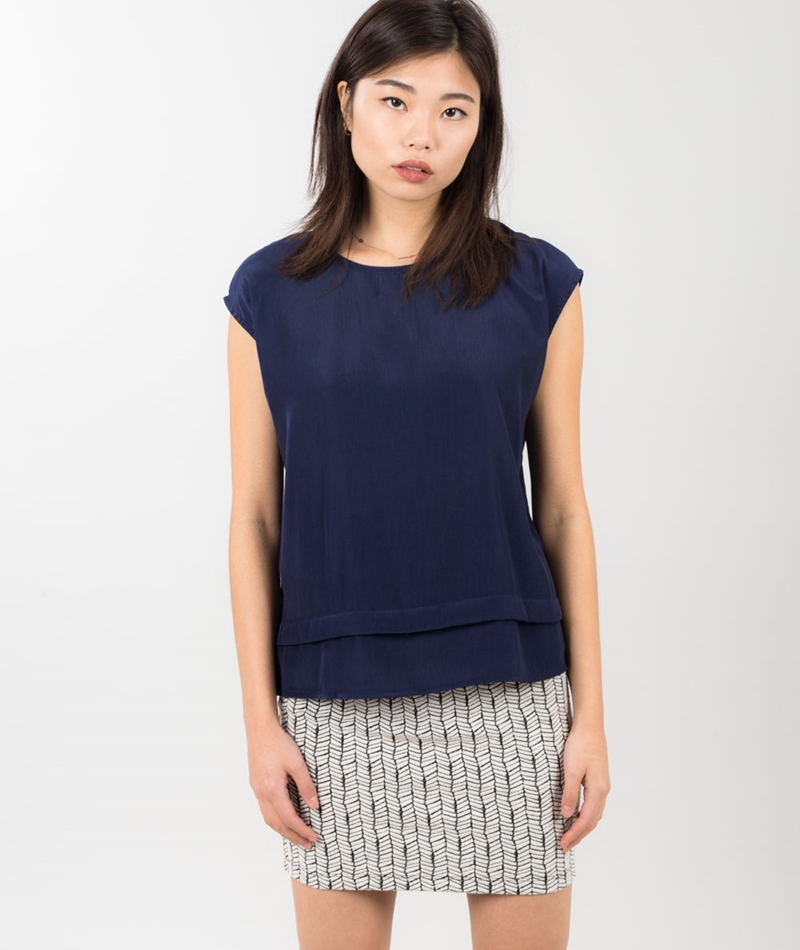 MINIMUM Lenie Bluse twilight blue