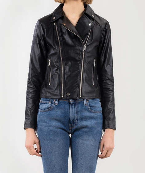 POP CPH Leather Biker Jacke black