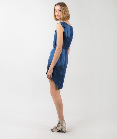 POP CPH Sand-washed Silk Kleid blue
