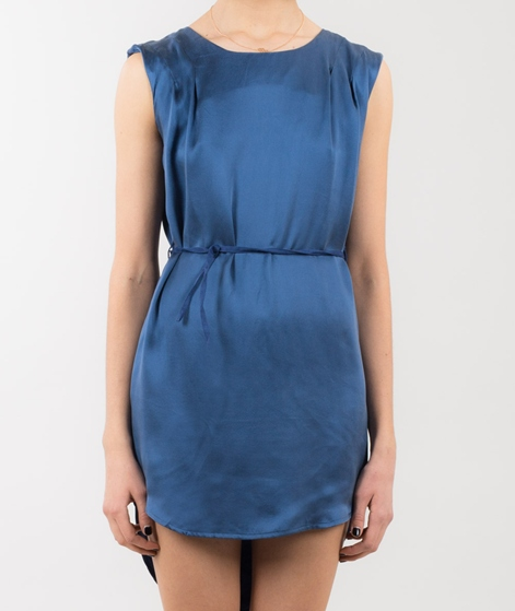 POP CPH Sand-washed Silk Kleid blue