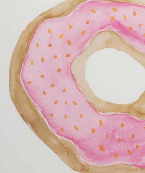 KAUF DICH GLÜCKLICH Poster Donut