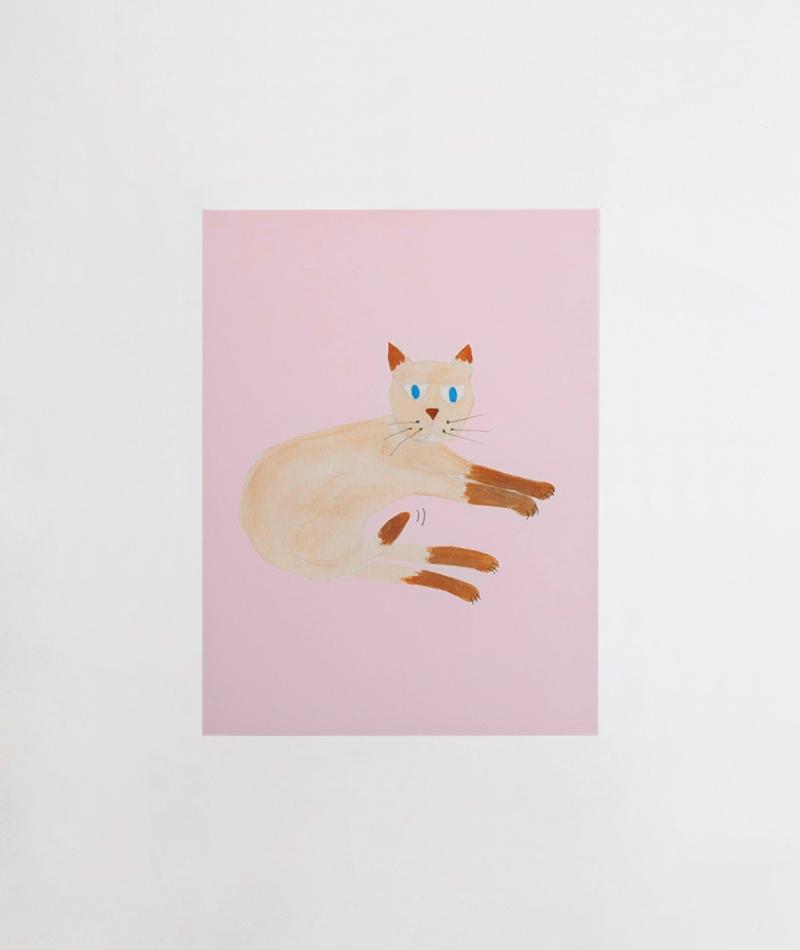 KAUF DICH GLÜCKLICH Poster Katze