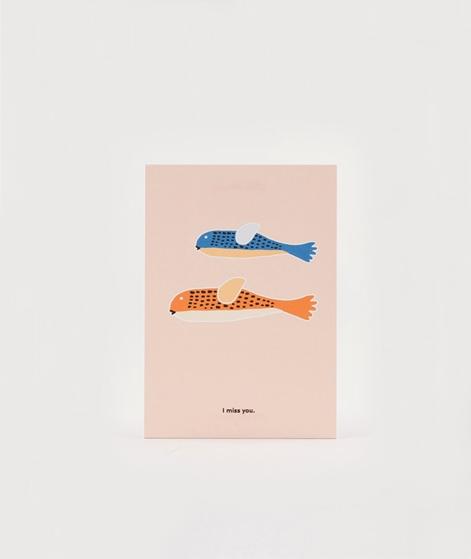 KAUF DICH GLÜCKLICH Postkarte I miss you