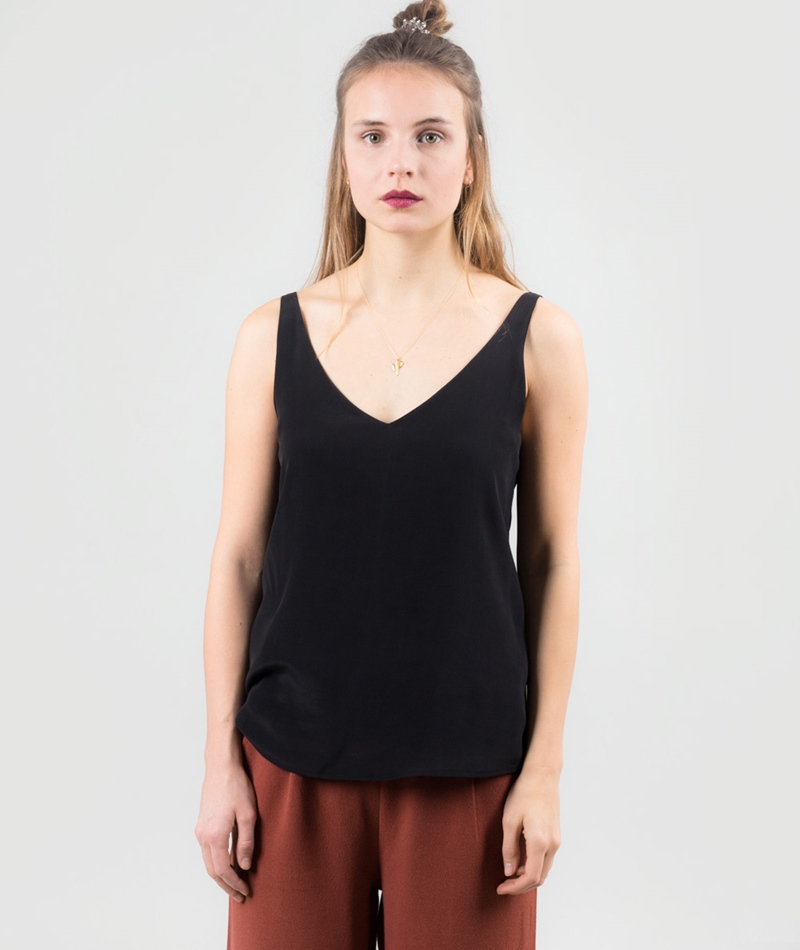 SELECTED FEMME SFAmalie Silk Top black