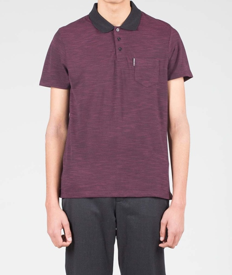 BEN SHERMAN Knittet Polo dark port