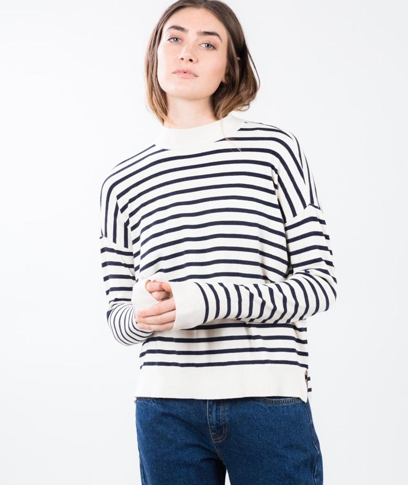 M BY M Fiola Pullover navy stripe