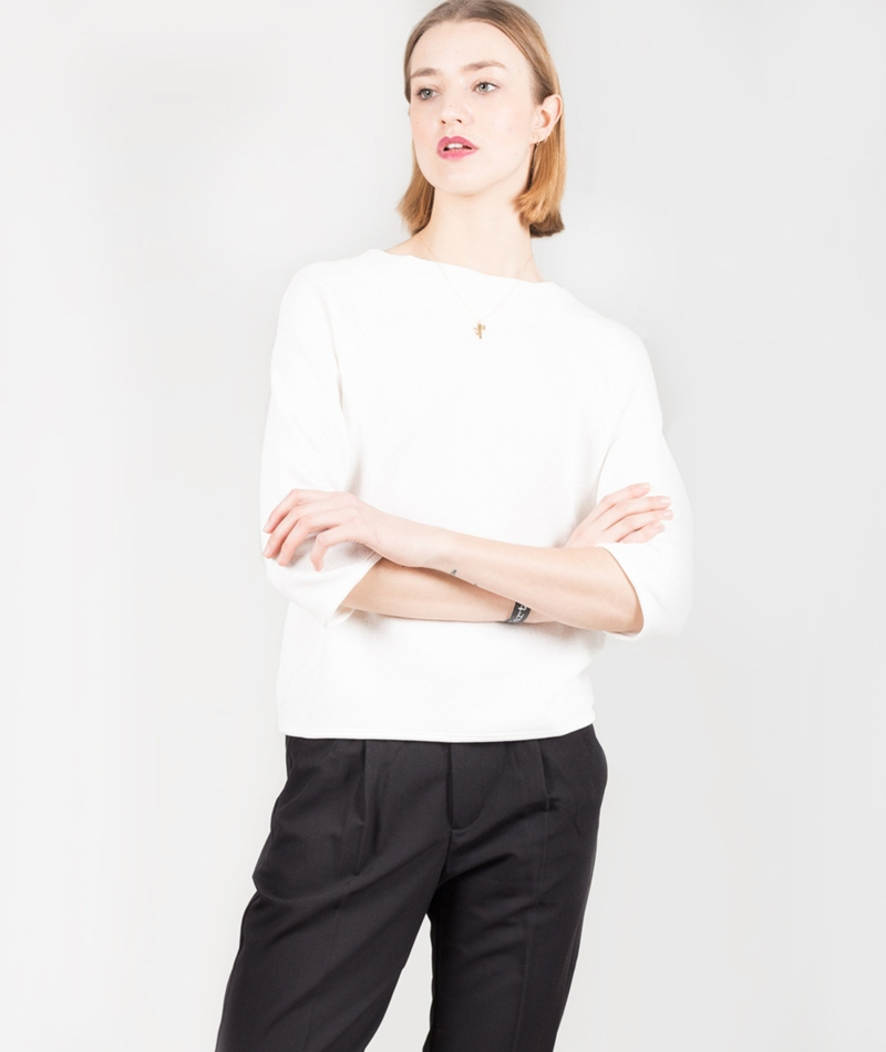 SELECTED FEMME SFJula 3/4 Pullover snow white