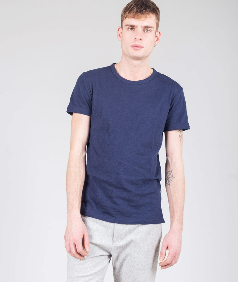 MINIMUM Delta T-Shirt dark iris melange