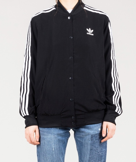 ADIDAS 3 Stripes Bomber Jacke black