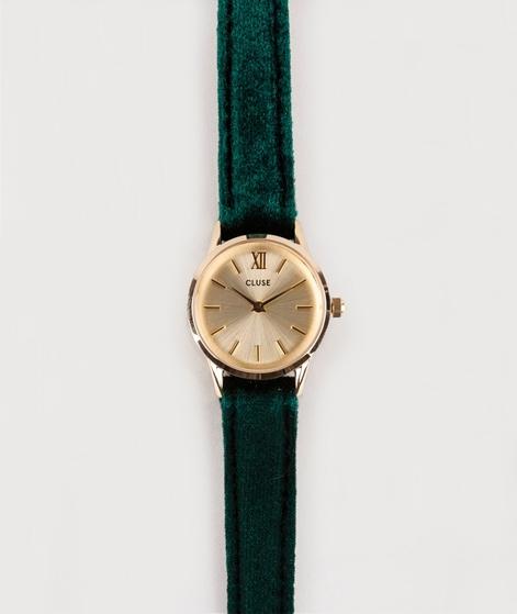 CLUSE La Vendette Uhr gold/green/velvet