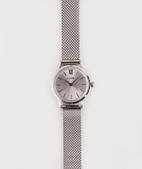 CLUSE La Vendette Uhr mesh full silver