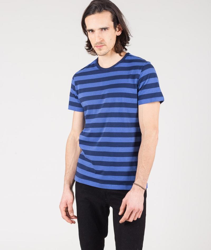 LEE Bold Stripe T-Shirt workwear blue