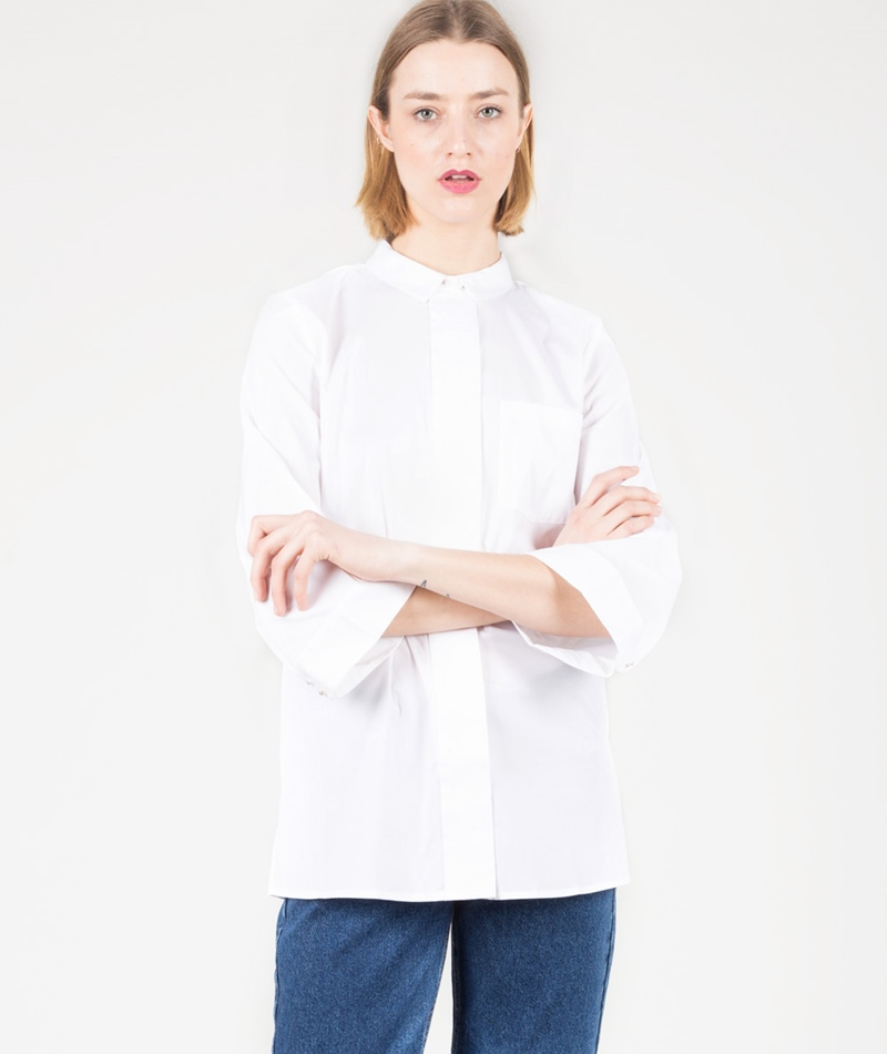 SELECTED SFBalia Bell Bluse optical snow
