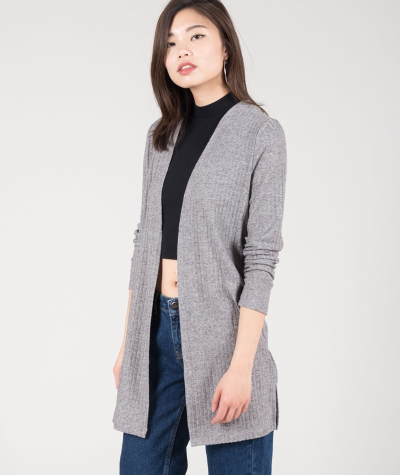 VILA Vistama Cardigan light grey melange