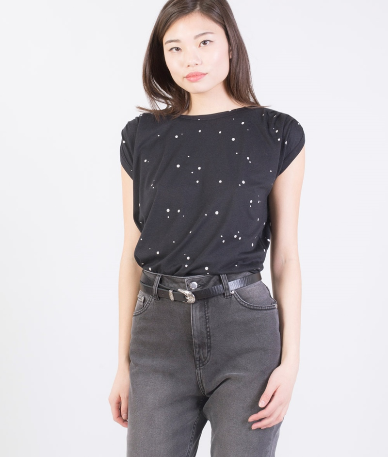 SESSUN Sixto Bluse black dots
