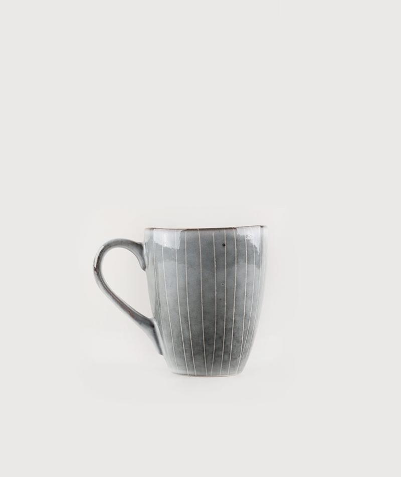 BROSTE Tasse Nordic Sea Henkel grau