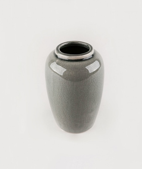 BROSTE Vase Crackle thyme Ø 10 x H 15,5