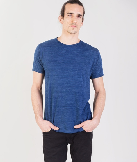 REVOLUTION Indigo Dyed Cotton T-Shirt