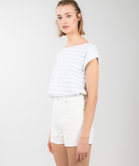 WEMOTO Bell Stripe T-Shirt white/mint