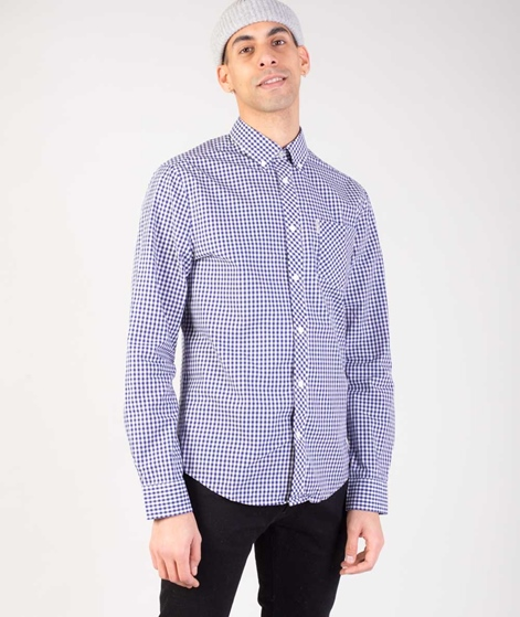 BEN SHERMAN LS Core Gingham Hemd blue