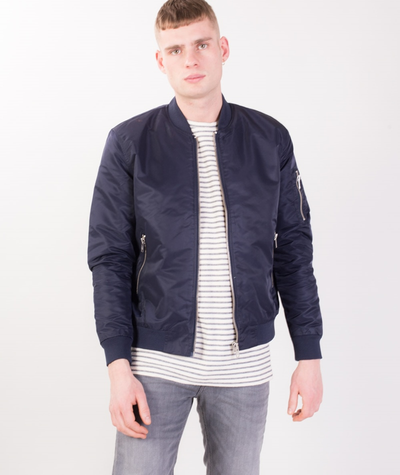 W.A.C. - WE ARE CPH Bomber Jacke navy
