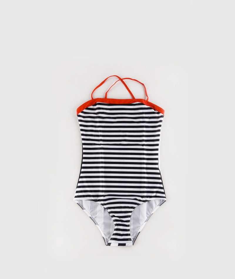 MADS NORGAARD Vita Stripe Badeanzug