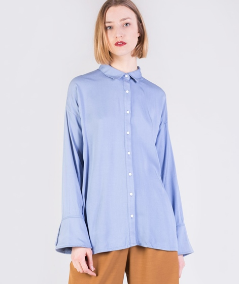 MINKPINK Flare Cuff Washed Bluse blue