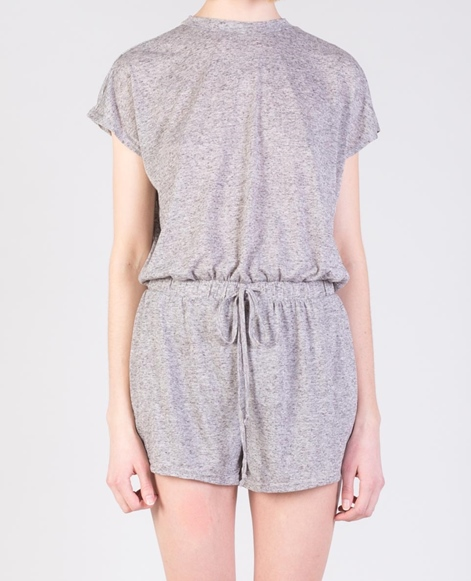 MINKPINK Textured Linen Jumpsuit grey