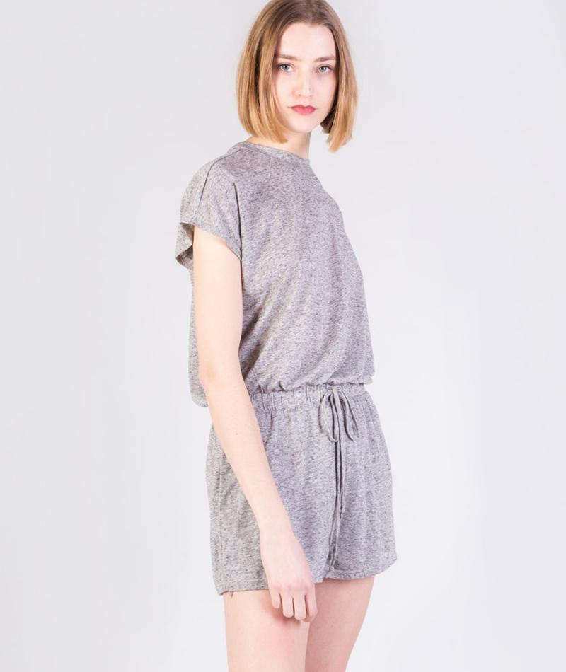MINKPINK Textured Linen Jumpsuit grey