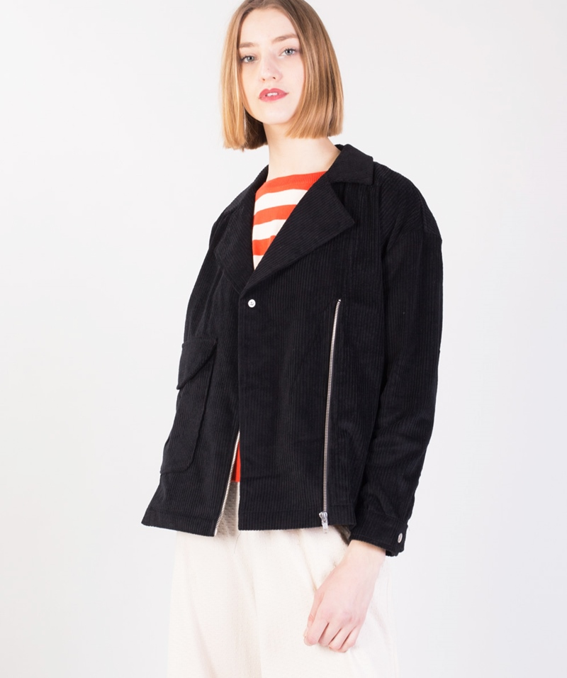 SELFHOOD Cotton Jacke black