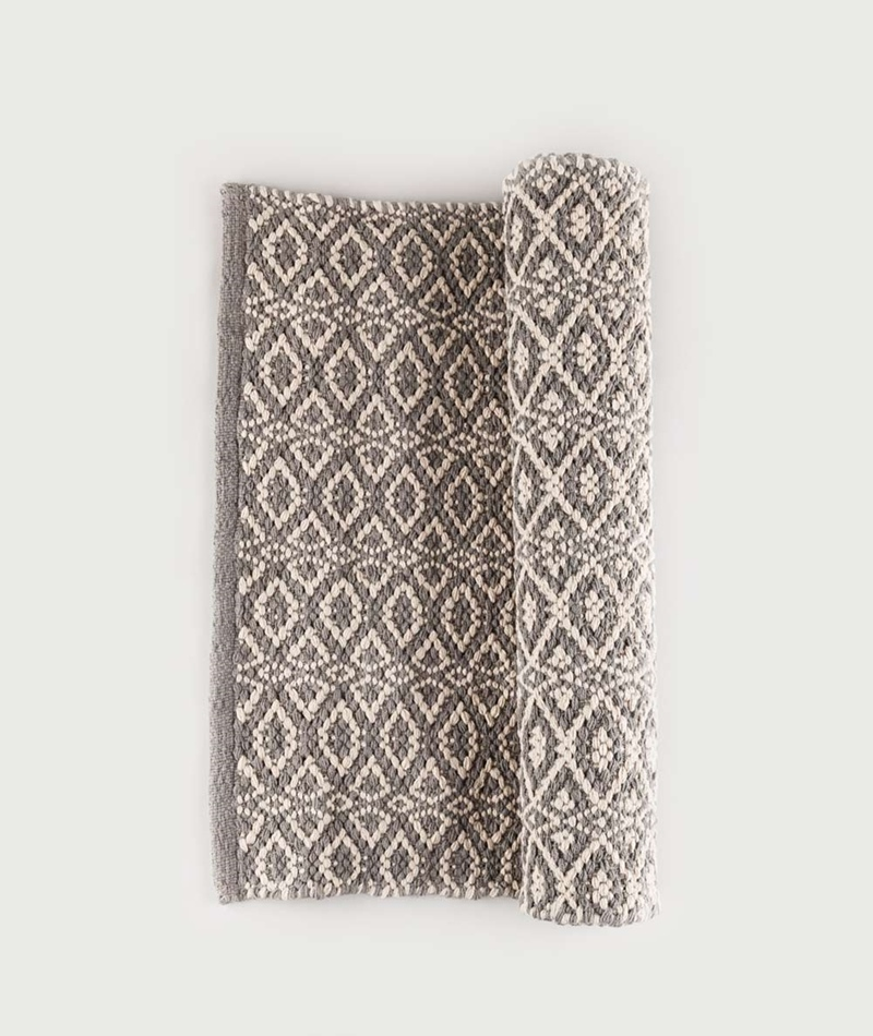 LIV Bergen Cotton Teppich grey/natural