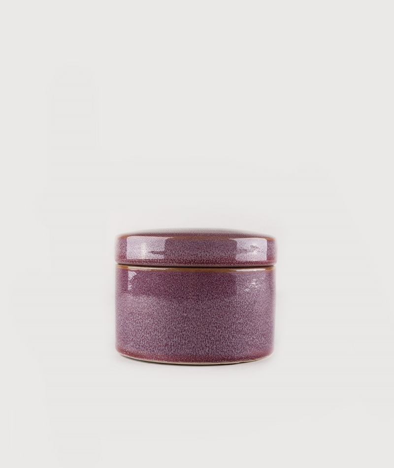 HOUSE DOCTOR Jar with Lid Croz bordeaux