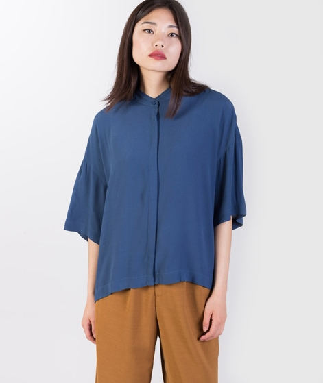 JUST FEMALE Cord t-Shirt insigma blue