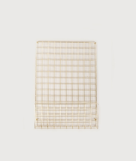 HOUSE DOCTOR Noticeboard mesh gold