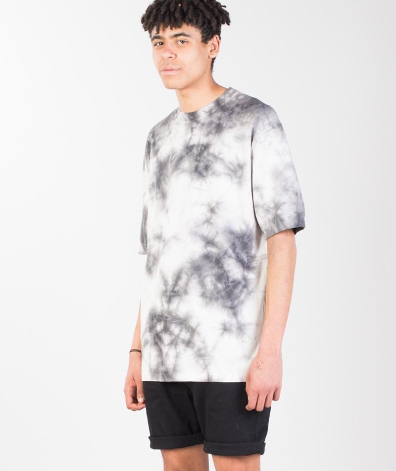 TOPMAN Gry Dye T-Shirt crystal grey