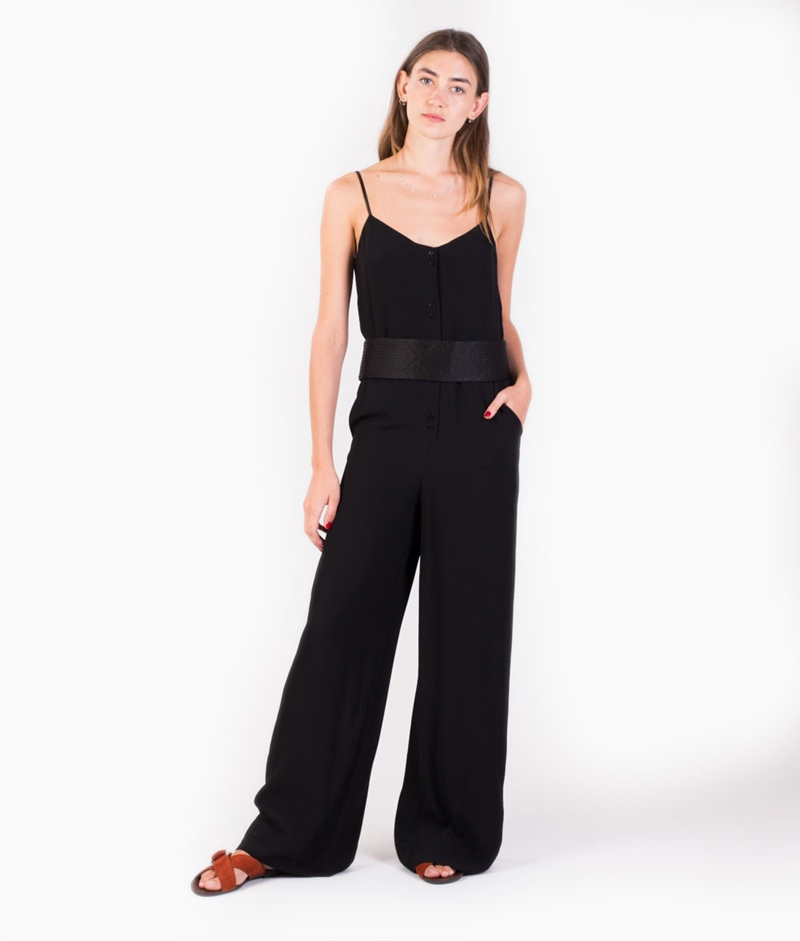 SESSUN Smocky Eyes Jumpsuit black