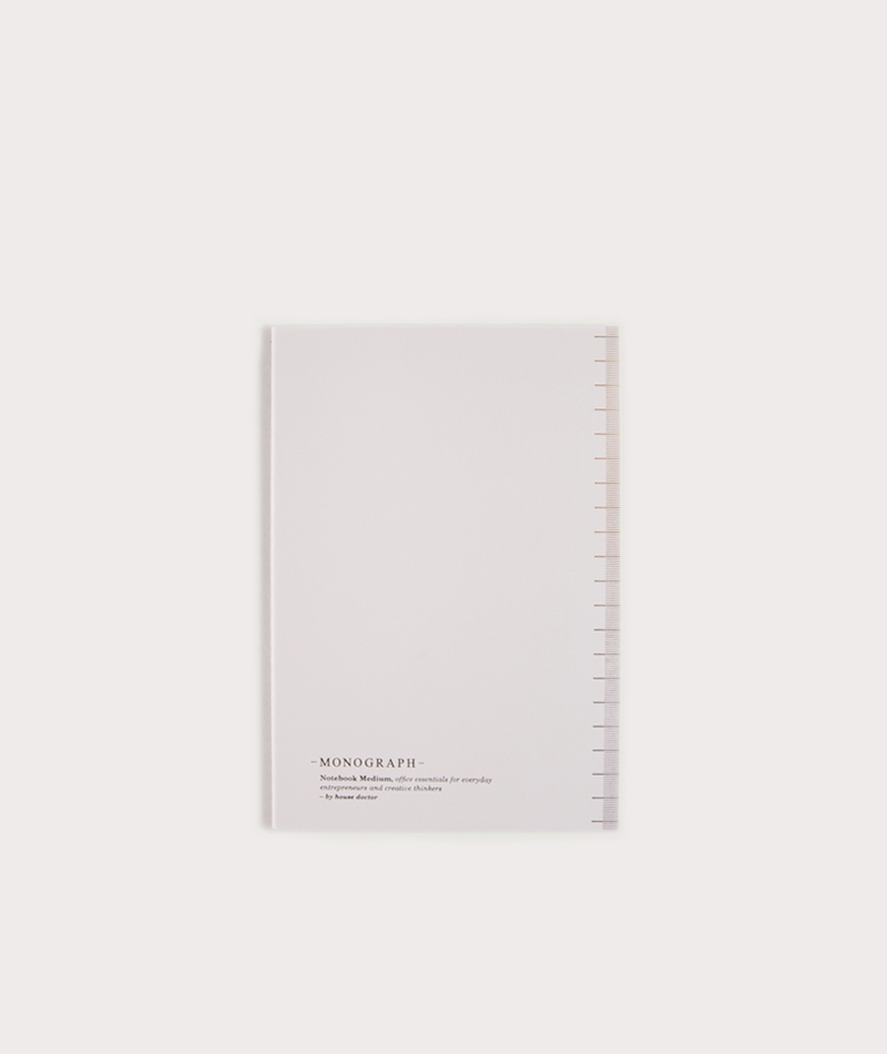 HOUSE DOCTOR MONOGRAPH Notebook A5 pastell grau