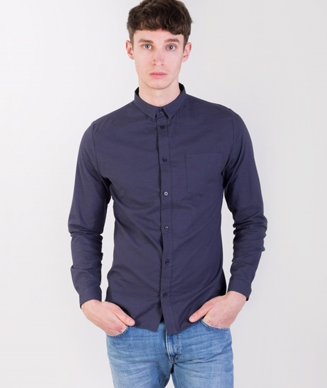 REVOLUTION Cotton Hemd navy