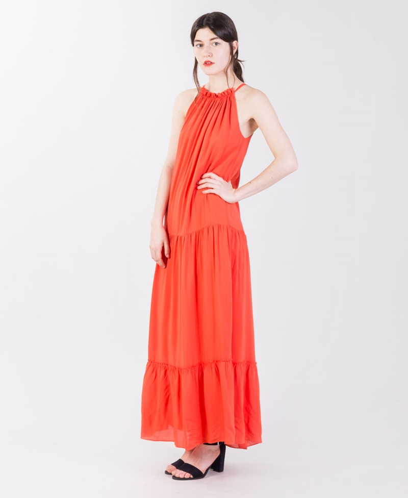 SECOND FEMALE Duma Strap Maxi Kleid