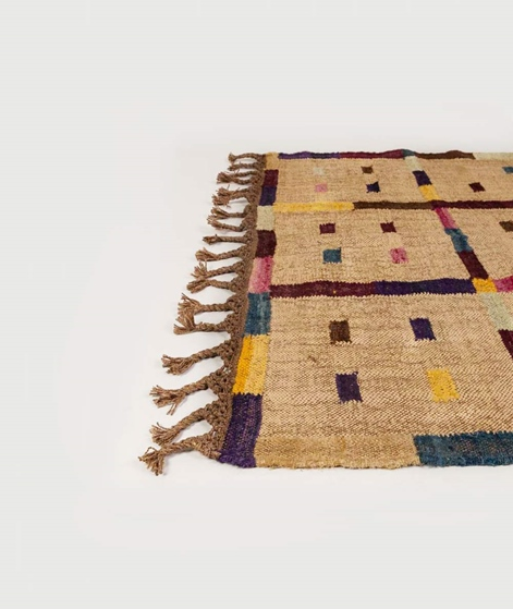 MADAM STOLTZ Handwoven wool rug multi