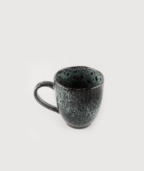 MADAM STOLTZ Stoneware Mug grey w/dots